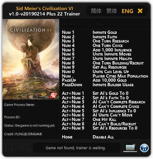Civilization 6 Trainer