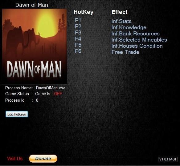 Dawn of Man Trainer