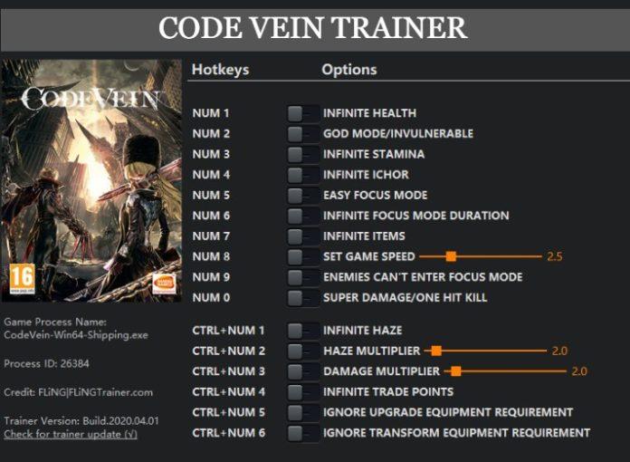 Code Vein Trainer