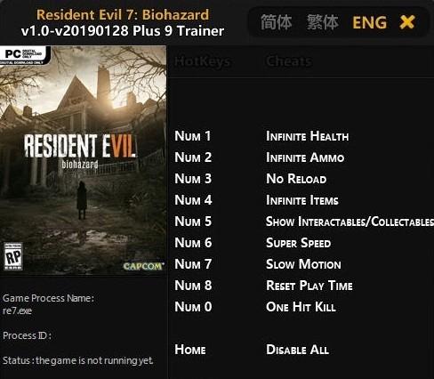 Resident Evil 7 Trainer