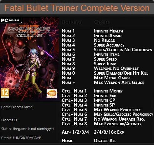 Sao Fatal Bullet Trainer